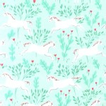 Michael Miller Fabrics - Michael Miller Knits - Magic - Unicorn Forest in Aqua