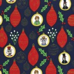 Michael Miller Fabrics - Nutcracker - Ornaments in Navy