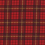 Michael Miller Fabrics - Nutcracker - Plaid in Cranberry