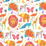 Michael Miller Fabrics - Origami Oasis - Pride in Candy