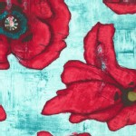 Michael Miller Fabrics - Poppy - Big Poppy in Aqua