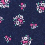 Michael Miller Fabrics - Swan Lake - Bitty Bouquet in Midnight
