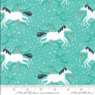 Moda Fabrics - Kids - Enchanted - Unicorn Galore in Misty
