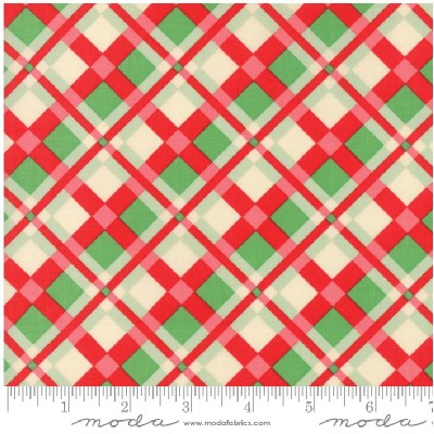 Moda Fabrics - Swell Christmas - Plaid in Red Green