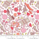 Moda Fabrics - Walk In The Woods - Animals in White