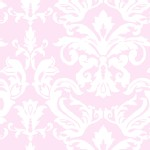 P B Textiles - Ballet Rose - Damask in Pink
