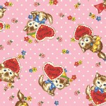 Quilt Gate - Dear Little World - Pocket Kitten Hearts in Pink