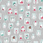 Quilting Treasures - Holiday - Mingle and Jingle - Santa Crew in Gray