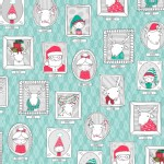 Quilting Treasures - Holiday - Mingle and Jingle - Santa Crew in Wintergreen