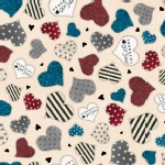 Quilting Treasures - Simply Gorjuss - Hearts in Beige