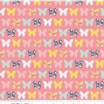 Riley Blake Designs - A Beautiful Thing - Beautiful Butterfly Pink in Navy