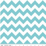 Riley Blake Designs - Hollywood - Sparkle Chevron in Aqua