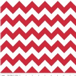 Riley Blake Designs - Hollywood - Sparkle Chevron in Red