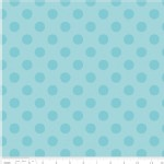 Riley Blake Designs - Hollywood - Sparkle Dots in Aqua