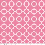 Riley Blake Designs - Hollywood - Sparkle Quartrefoil in Hot Pink