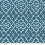 Riley Blake Designs - Knit Prints - Lucky Star Circle in Navy