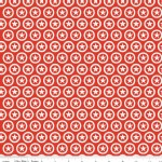 Riley Blake Designs - Knit Prints - Lucky Star Circle in Red