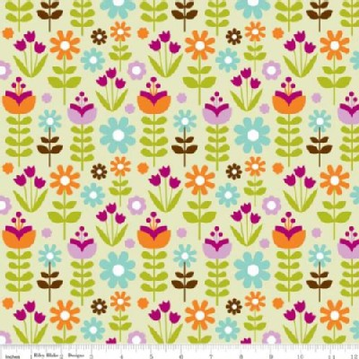 Riley Blake Designs - Little Matryoshka - Floral in Green