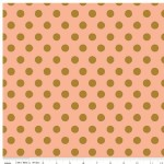 Riley Blake Designs - On Trend - Dot in Coral Metallic