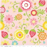 Riley Blake Designs - Simply Sweet - Floral Main in Pink