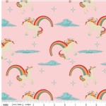 Riley Blake Designs - Unicorns and Rainbows - Unicorn Main in Pink