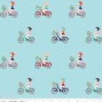 Riley Blake Designs - Vintage Market - Bike Ride in Aqua