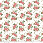 Riley Blake Designs - Wonderland - Floral in White Metallic