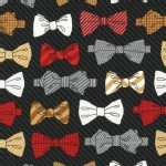 Robert Kaufman Fabrics - Fox and The Houndstooth - Bow Tie in Black