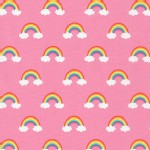 Robert Kaufman Fabrics - Happy Little Unicorns - Rainbows in Pink