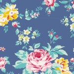 Tilda Fabrics - Apple Butter - Shirly in Blue