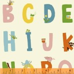 Windham Fabrics - Kinder - Alphabet in White